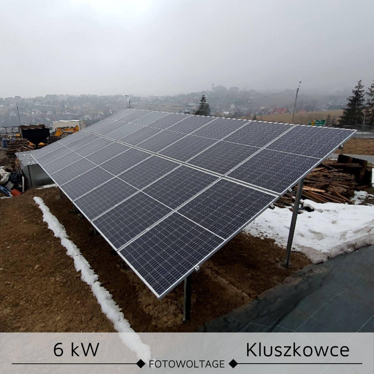 Fotowoltaika na gruncie 6 kW