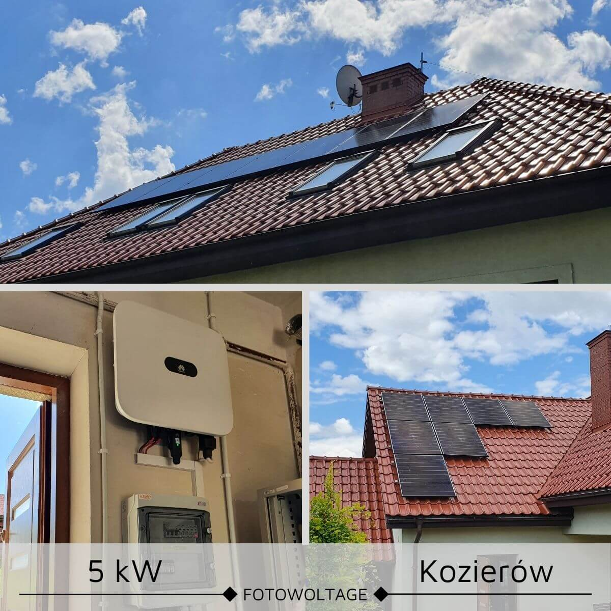 Instalacja fotowoltaiczna na dachu skosnym