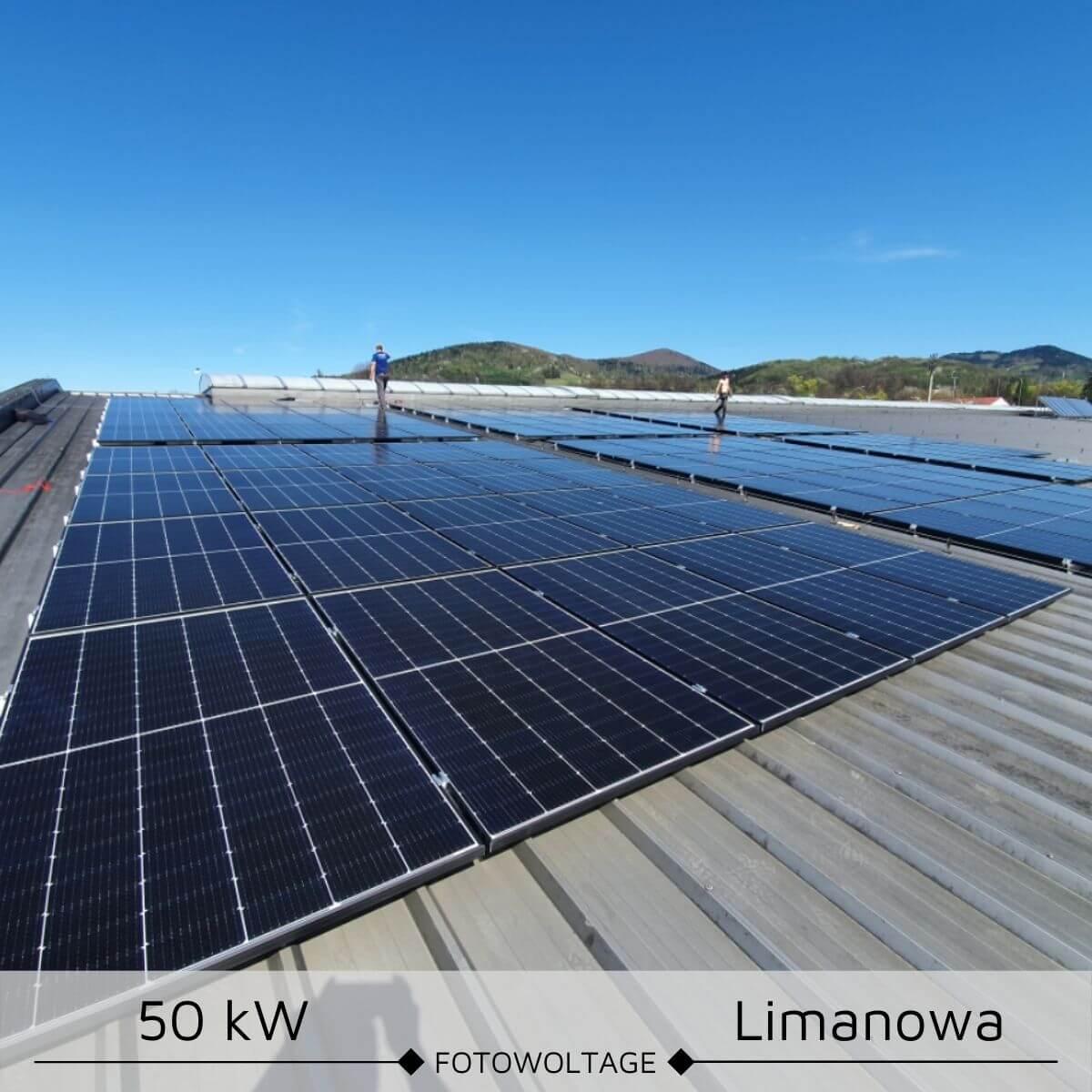 Instalacja fotowoltaiczana o mocy 50 kW